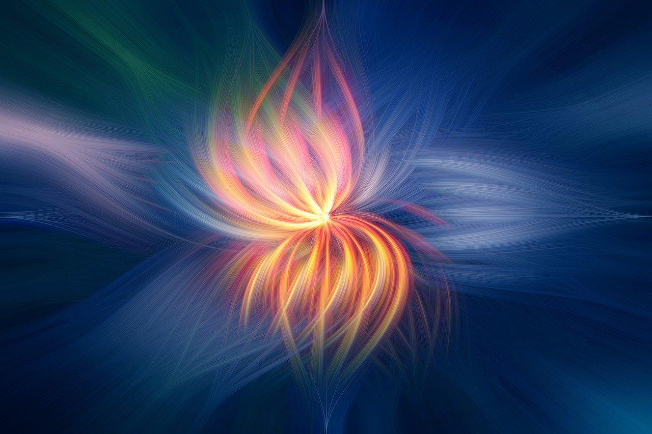 Buntes Licht - wie eine Blume