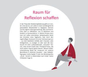 Raum für Reflexion schaffen: eine Seite aus dem Guide